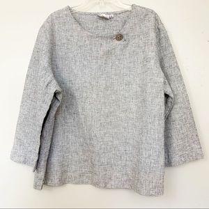 Hot Cotton Linen/Cotton blend, metallic top sz XL